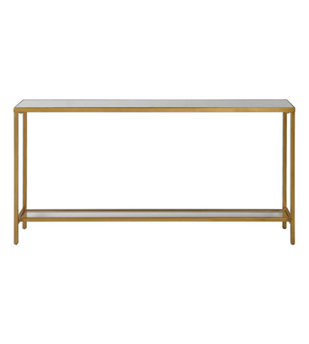 Uttermost 24685 hayley 60 x 10 inch antiqued gold console for 10 inch console table