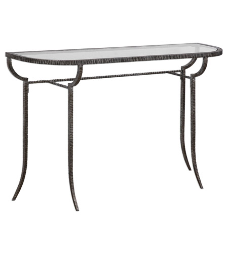 Uttermost 24691 Nakoda 52 X 14 inch Forged Iron/Burnished Silver Console Table 24691-A.jpg