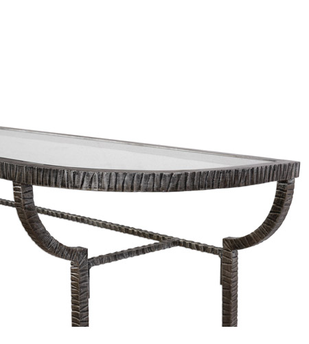 Uttermost 24691 Nakoda 52 X 14 inch Forged Iron/Burnished Silver Console Table 24691-A1.jpg