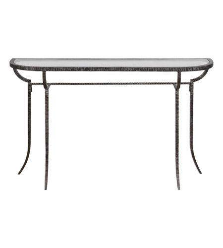Uttermost 24691 Nakoda 52 X 14 inch Forged Iron/Burnished Silver Console Table