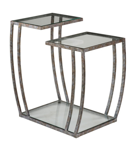 Uttermost 24722 Teeranie 26 X 24 inch Burnished Silver End Table, Matthew Williams 24722-A.jpg