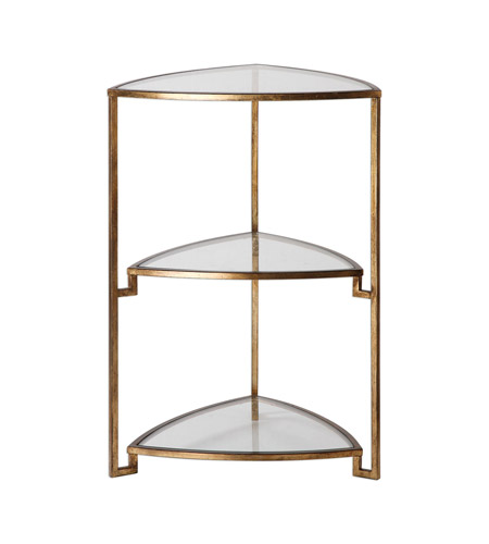 Uttermost 24730 Nastasia 27 X 18 inch Gold Leaf End Table