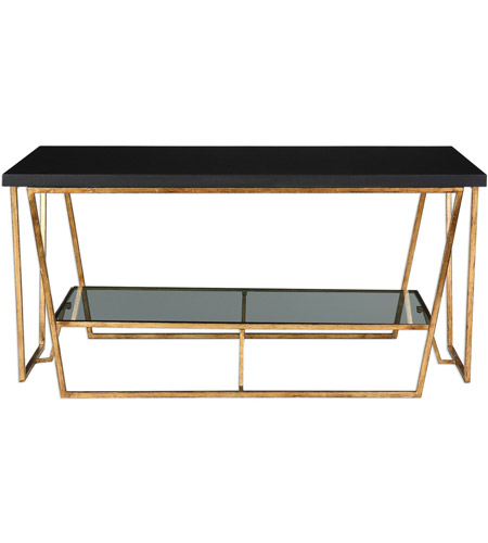Black and Gold Glass Tables