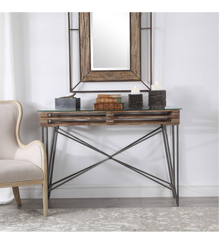 Uttermost 24874 Ryne 52 inch Fir Wood and Iron Console Table 24874.jpg