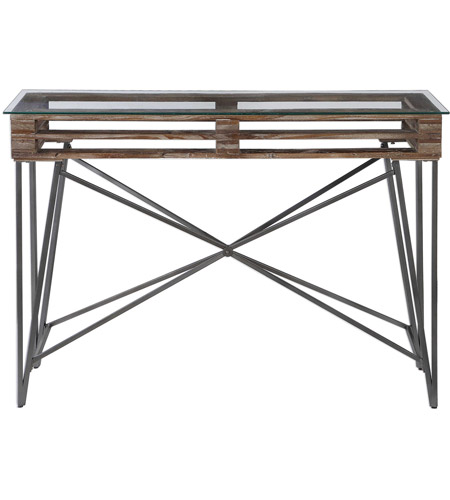 Uttermost 24874 Ryne 52 inch Fir Wood and Iron Console Table