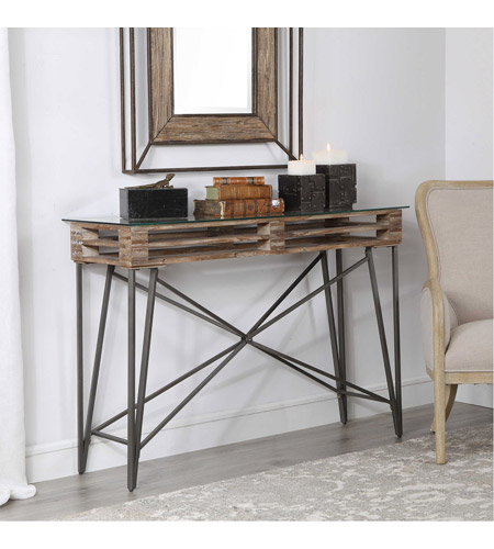 Uttermost 24874 Ryne 52 inch Fir Wood and Iron Console Table 24874_3_.jpg