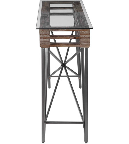 Uttermost 24874 Ryne 52 inch Fir Wood and Iron Console Table 24874_4_.jpg