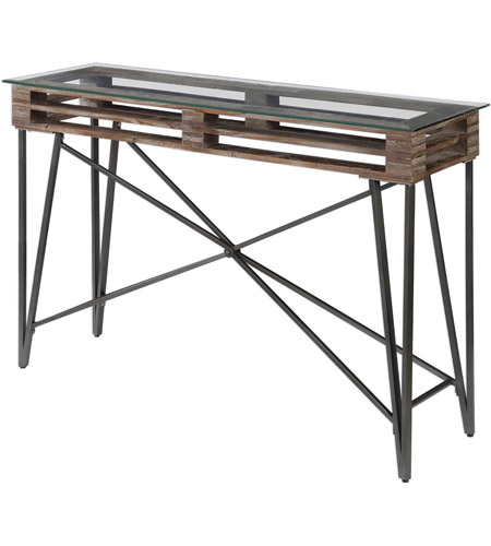 Uttermost 24874 Ryne 52 inch Fir Wood and Iron Console Table 24874_5_.jpg