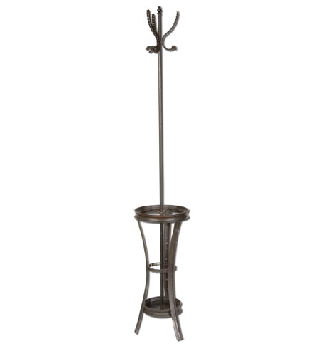 Uttermost Freewheel Coat Rack in Antique Silvery Black 25012 photo