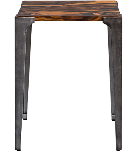 Uttermost 25411 Mira 24 X 19 inch Acacia Wood with Smooth Black Resin and Aged Steel Side Table 25411_A.jpg
