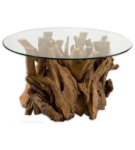 Uttermost Driftwood Cocktail Table in Natural Unfinished Teak Driftwood 25519 photo