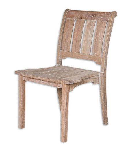 Uttermost Selva Armess Chair in Sun-Weathered Wash 25560 photo