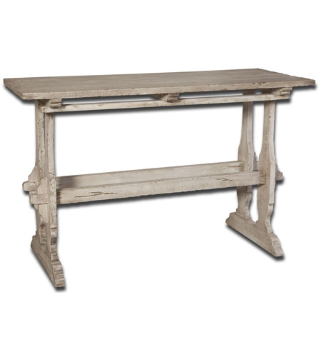 Uttermost Yvon Console Table in Whitewash 25562 photo
