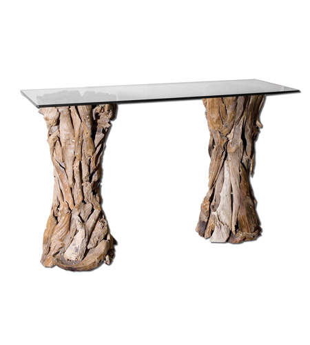 Uttermost 25582 Teak Root 54 inch Unfinished Teak Console Table photo
