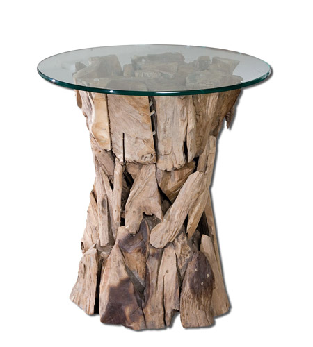 Uttermost 25583 Teak Root 26 X 24 inch Unfinished Teak Side Table photo