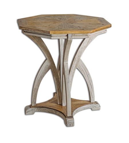Uttermost 25623 Ranen 28 X 26 inch Aged White Accent Table