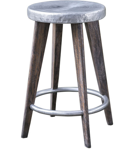 Uttermost 25831 Maxen 25 Inch Dark Driftwood Gray And Aged Pewter