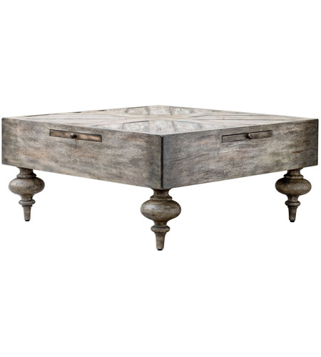Uttermost 25878 Nikita 38 X 18 inch Aged Driftwood Gray Coffee Table 25878_A2.jpg