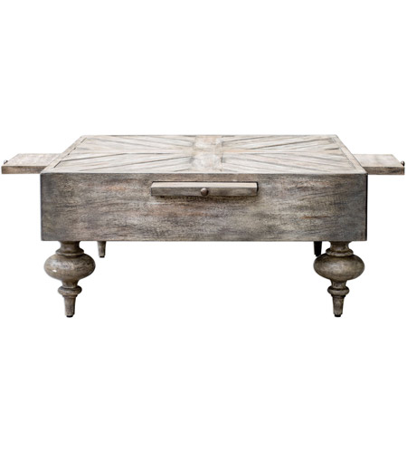 Uttermost 25878 Nikita 38 X 18 inch Aged Driftwood Gray Coffee Table 25878_A3.jpg