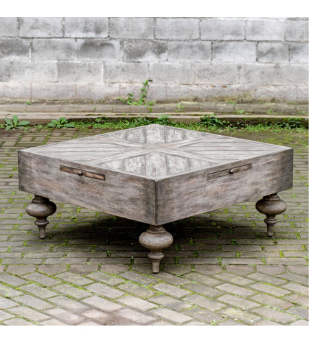 Uttermost 25878 Nikita 38 X 18 inch Aged Driftwood Gray Coffee Table 25878_A4.jpg