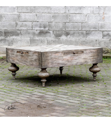 Uttermost 25878 Nikita 38 X 18 inch Aged Driftwood Gray Coffee Table 25878_Lifestyle.jpg