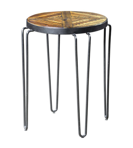Uttermost 25907 Stelios 25 X 20 inch Honey Stain Accent Table