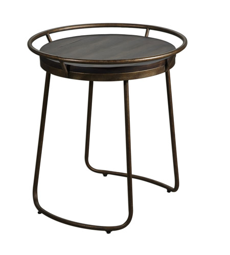 Uttermost 25946 Rayen 24 X 22 inch End Table, Round, Matthew Williams photo