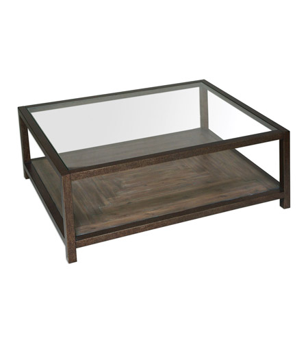 Uttermost 25971 Carter 48 X 19 Inch Iron Frame Coffee Table Photo