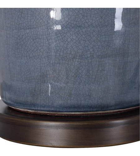 Uttermost 26009 Vicente 34 inch 150 watt Slate Blue Glaze with Oil Rubbed Bronze Accents Table Lamp Portable Light 26009_A4.jpg