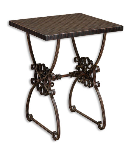 Uttermost Anissa Accent Table in Forged Metal In Ancient Bronze Patina 26112 photo