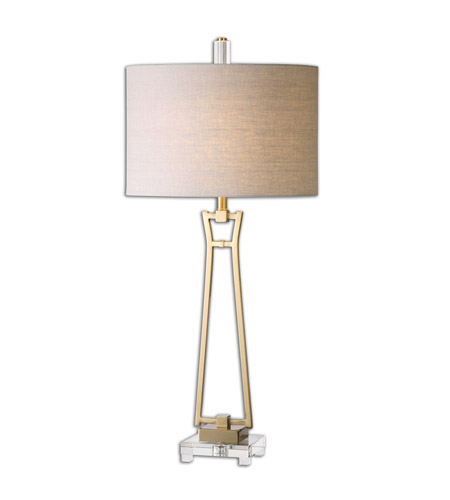 Uttermost Gold Fabric Table Lamps