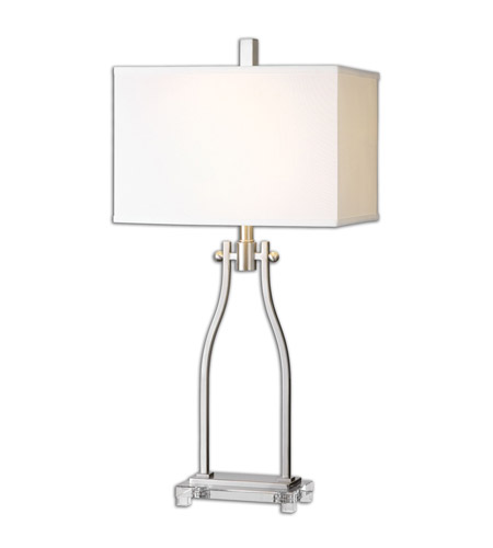 Uttermost 26187-1 Trevico 33 inch 150 watt Hand Forged Metal Table Lamp Portable Light