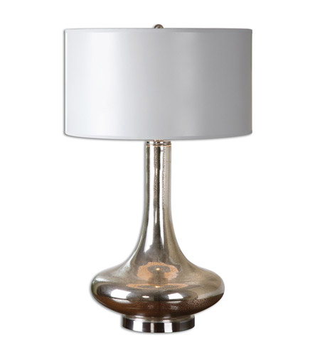Uttermost Brushed Nickel Glass Table Lamps