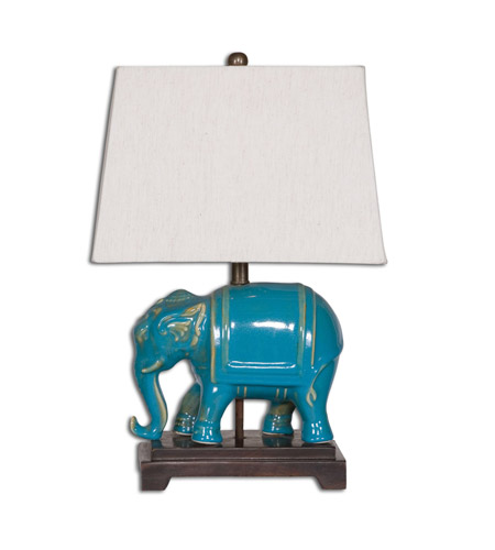 Uttermost 26210 Pradesh 18 inch 100 watt Blue Ceramic Table Lamp Portable Light