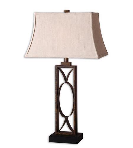 Table Lamp In Mottled Dark Bronze 26264