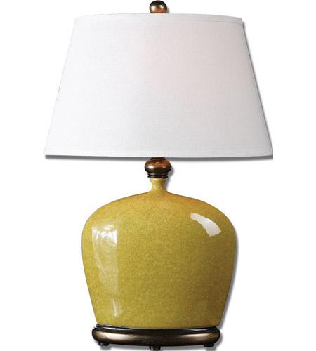 Uttermost Geraldine Burnt Yellow Table Lamp in Burnt Yellow 26286 photo