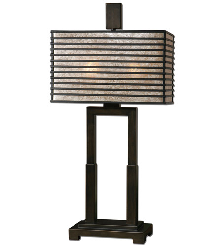 Uttermost Becton Modern Metal Table Lamp in Wood 26291-1 photo