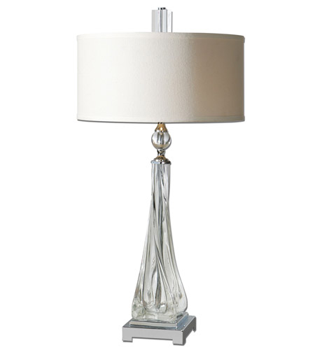Uttermost 26294-1 Grancona 32 inch 60 watt Twisted Glass Table Lamp Portable Light photo