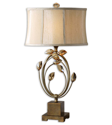 Uttermost Alenya 1 Light Lamps in Burnished Gold 26337-1 photo