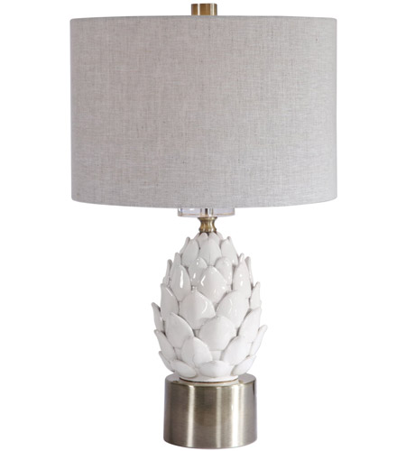 Uttermost White Ceramic Table Lamps