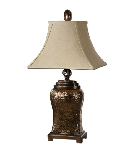 Uttermost Easton Table Lamp in Metallic Bronze Glaze 26515 photo