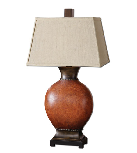 Uttermost 26517 Suri 35 inch 150 watt Burnished Dark Red Table Lamp Portable Light