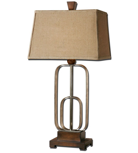 Uttermost Piomba 1 Light Table Lamp in Antiqued Silver Metal 26535
