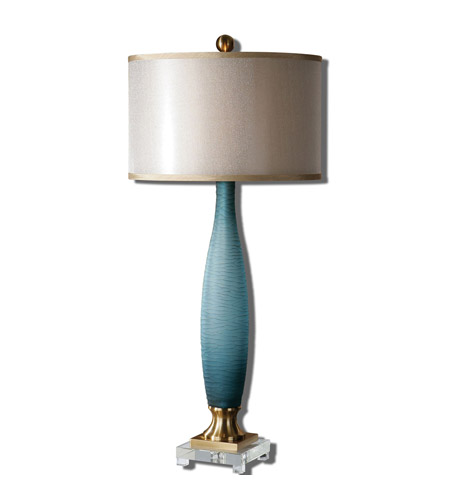 Uttermost Blue Ceramic Metal Table Lamps