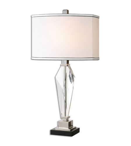 Polished Nickel Linen Table Lamps