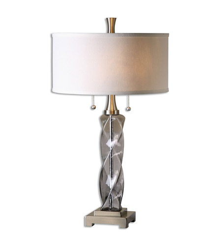Uttermost 26634-1 Spirano 29 inch 75 watt Gray Table Lamp Portable Light photo thumbnail