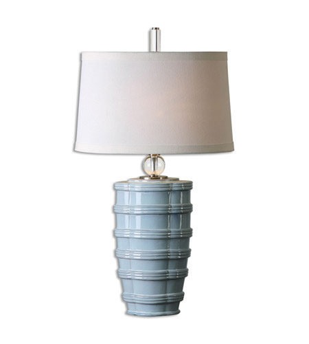 Uttermost 26638 Sassinoro 33 inch 150 watt Light Blue Table Lamp Portable Light