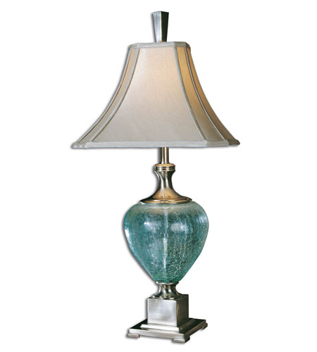 Uttermost Oceana Table Table Lamp in Blue/Green Crackled Glass 26657