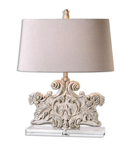 Uttermost 26658 Schiavoni 25 Inch 150 Watt Ivory Table Lamp Portable Light  Photo