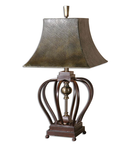 Uttermost Morrisa Table Table Lamp in Mahogany Toned Metal 26685